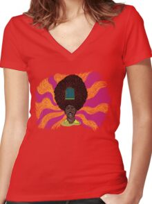 The Mighty Boosh - Rudi van DiSarzio - Rudy - Psychedelic Monk Women's Fitted V-Neck T-Shirt