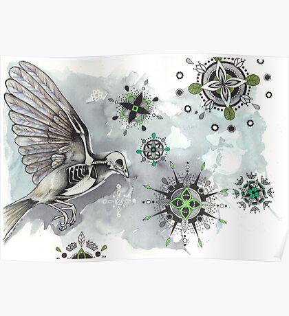 Skeleton Bird Poster