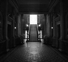 Werribee Mansion - Int IR Stairway by lightsmith