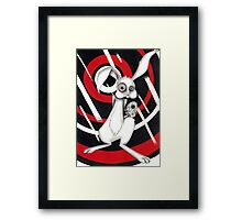 Angry Rabbit Framed Print