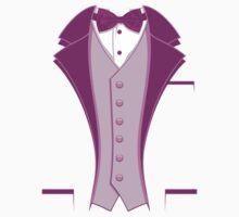 Tuxedo Purple One Piece - Short Sleeve