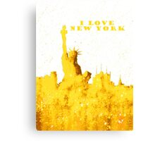 I LOVE NEW YORK - Color Yellow Canvas Print