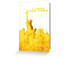 I LOVE NEW YORK - Color Yellow Greeting Card
