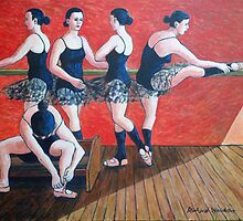 Ballet lesson by Richard Waldron