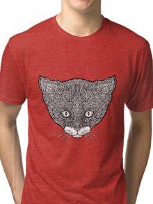 Tuxedo Cat - Complicated Cats Tri-blend T-Shirt