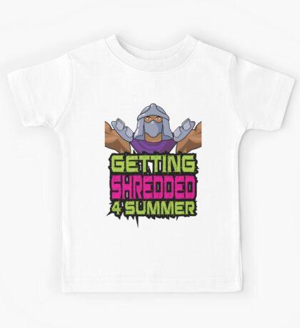Shredder - Getting Shredded 4 Summer Kids Tee