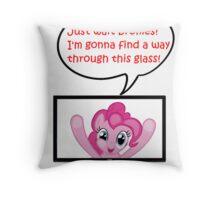 Pinkie Pie Fourth Wall Breach Throw Pillow