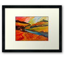 Landscape Composition Framed Print
