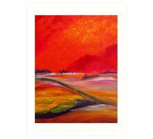 Sundown Colours Art Print