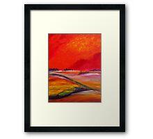 Sundown Colours Framed Print