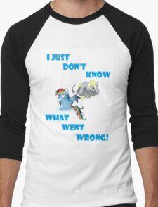Derpy's gonna Derp - Poor Rainbow Dash Men's Baseball ¾ T-Shirt