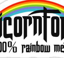 UnicornForce 100% Rainbow Metal Sticker