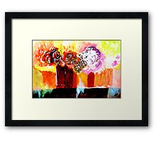 Still life with Flowers in two vases Framed Print