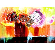 Still life with Flowers in two vases Photographic Print