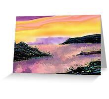 Seascape--On The Rocks. Greeting Card