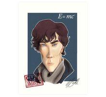 CULT BBC - Sherlock (Benedict Cumberbatch) Art Print