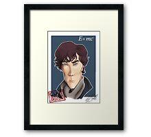 CULT BBC - Sherlock (Benedict Cumberbatch) Framed Print