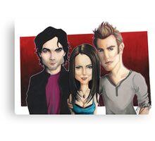 Vampire Diaries  - Caricature Canvas Print