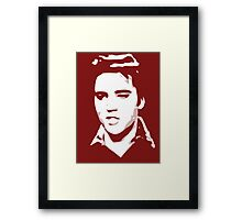 a elvis t-shirt Framed Print