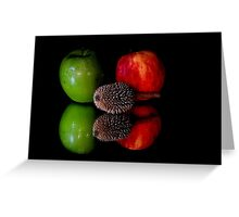 fruits on black background Greeting Card