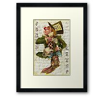 Mad Hatter Joker Card Framed Print