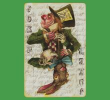 Mad Hatter Joker Card Baby Tee