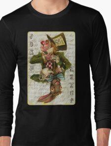 Mad Hatter Joker Card Long Sleeve T-Shirt