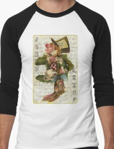 Mad Hatter Joker Card Men's Baseball ¾ T-Shirt