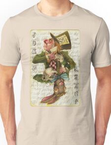 Mad Hatter Joker Card Unisex T-Shirt