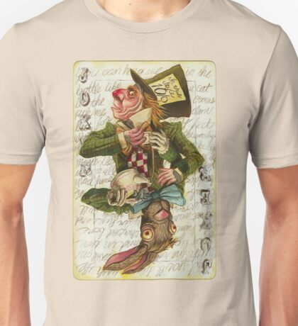 Mad Hatter Joker Card Unisex T-Shirt