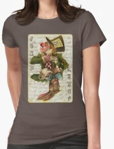 Mad Hatter Joker Card Womens Fitted T-Shirt