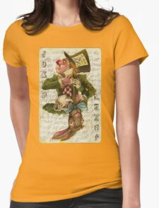 Mad Hatter Joker Card Womens Fitted T-Shirt