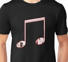 Music speaks volumes Unisex T-Shirt
