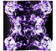 Electrifying purple sparkly triangle flames Poster