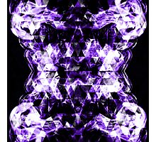 Electrifying purple sparkly triangle flames Photographic Print
