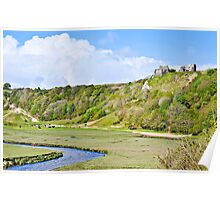Pennard Castle, Gower Poster