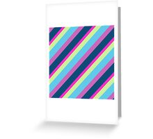 Blue pink lime Lines Greeting Card