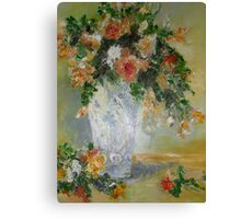 oil painting of roses Canvas Print