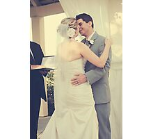 You May Now Kiss Your Groom Photographic Print