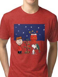 snoopy christmas Tri-blend T-Shirt