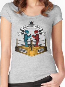 Old-Time Boxing Women's Fitted Scoop T-Shirt
