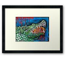 Crocodile Lollipop - Morbid Fantasy Art Framed Print