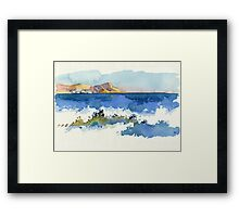 Black Sea Shore Framed Print