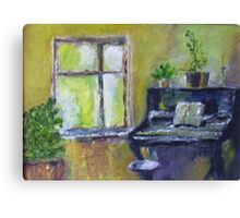 The Piano Oil Painting Canvas Print
