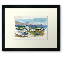 Waves in Koktebel Framed Print