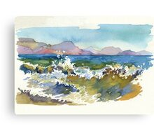Waves in Koktebel Canvas Print