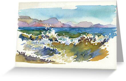 Waves in Koktebel by Kasheva