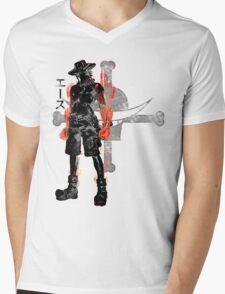 Fire Fist Mens V-Neck T-Shirt