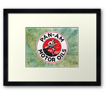 Retro Pan-Am Motor Oils Sign Reproduction Framed Print