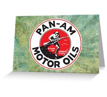Retro Pan-Am Motor Oils Sign Reproduction Greeting Card
